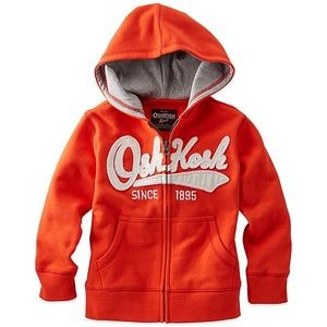 OshKosh B'gosh | Boys Orange Full-Zip Hoodie